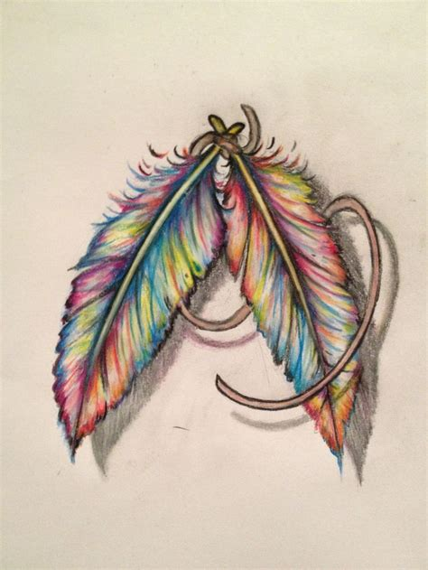 color feather tattoo best 25 color feather tattoos ideas only on