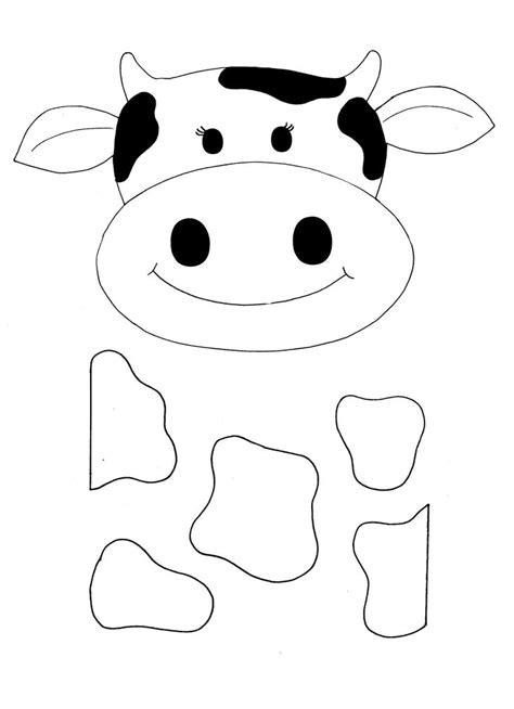 cow mask template cake ideas and designs