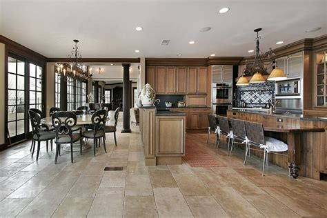 L Shaped Kitchen Island Ideas 43 kitchens with extensive dark wood throughout