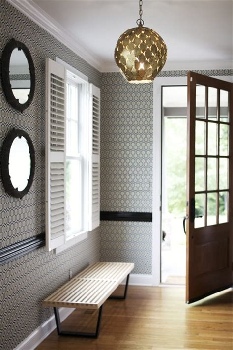small entryway inspiration wallpaper ideas for a dimly lit foyer joy studio design