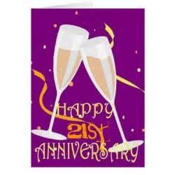 happy 21st anniversary chagne celebration card zazzle