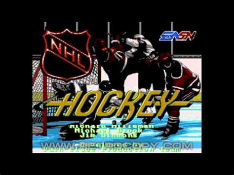 sega genesis hockey nhl hockey sega genesis mega drive intro