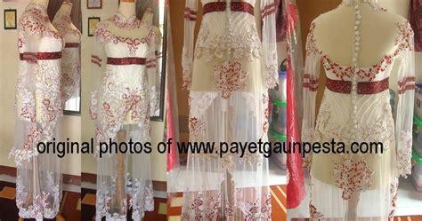 Kebaya Payet 05 payet gaun pesta desain baju pesta kebaya modern dan