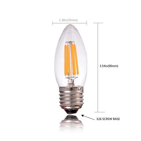 6w A19 Led Filament Light Bulb Edison Style E27 Led Light Cool White Led Light Bulbs