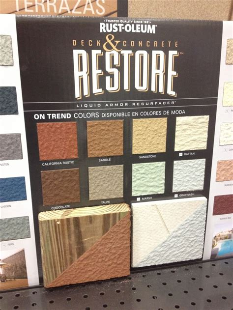 restore 10x colors best 25 concrete deck ideas on wood sted