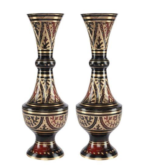 Brass Flower Vases by Statuestudio Brass Flower Vase Pair Black Buy