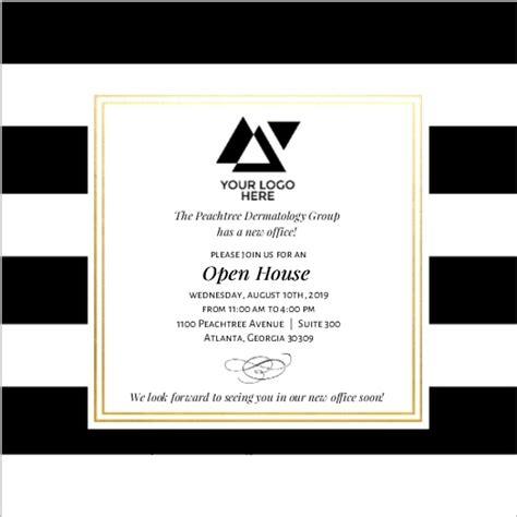 design open house invitation classic stripe corporate open house invitation business
