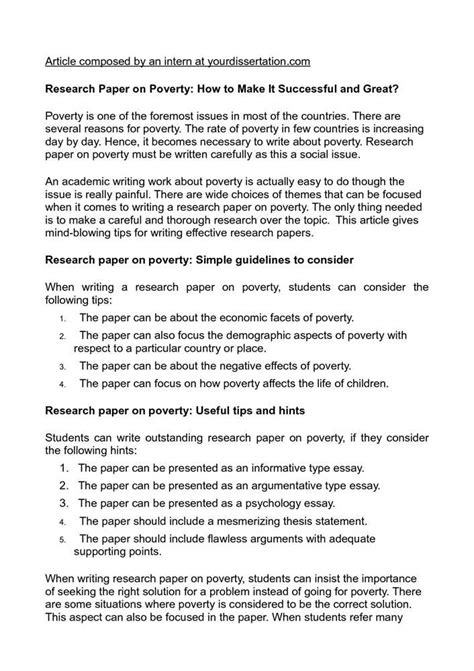 thesis statement for poverty essay on poverty term paper 581 words