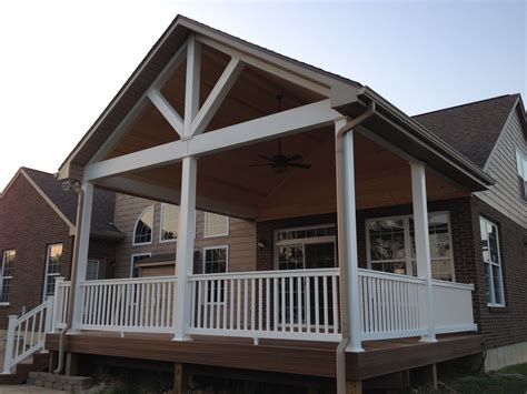 covered porch dayton cincinnati deck porch and outdoor spaces builder