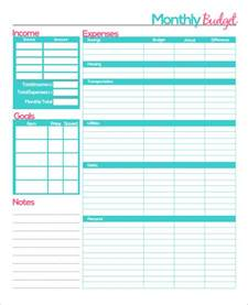 Monthly Budget Calendar Template by Search Results For Printable Monthly Budget Form