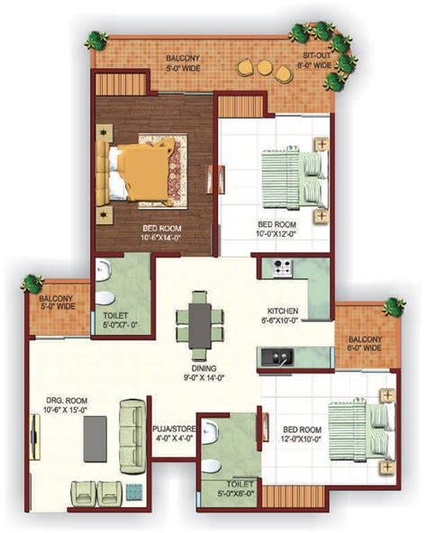 floor plan for kids ajnara fragrance noida extension upcoming project of ajnara
