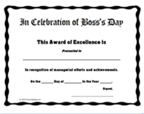 bosses day card template free printable s day certificates templates