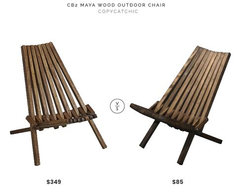 copycat chic desk chair daily find cb2 wood outdoor chair copycatchic