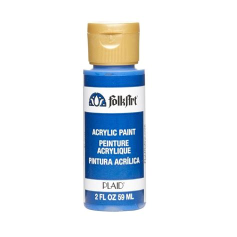 folk acrylic paint thinner folkart 2 oz cobalt blue acrylic craft paint ja720 the