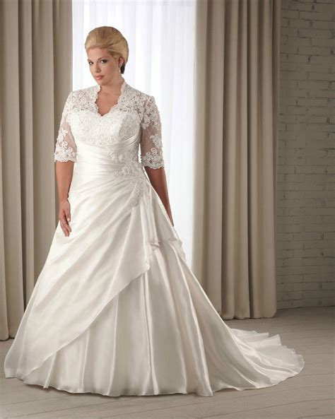 Wedding Dresses Size 18 by Half Sleeve Wedding Dress Bridal Gown Custom Plus Size 14