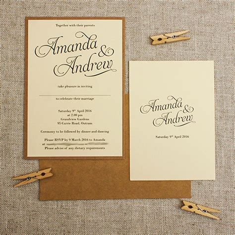 Simple Wedding Stationery by Simple Wedding Invitations Gangcraft Net