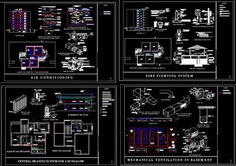 air conditioning  fire protection system dwg plan