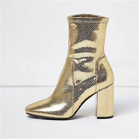 sock boots sale gold sock boot with block heel gifts sale