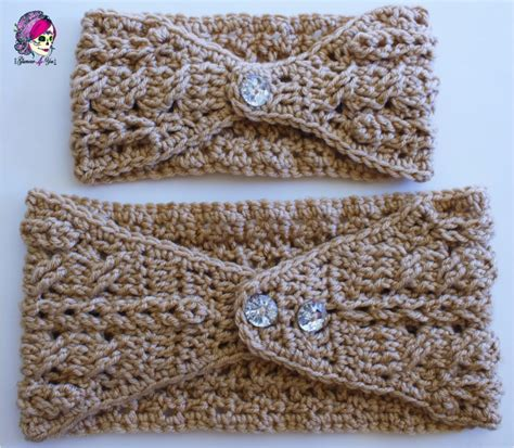 knitted headbands pattern with button free crochet headband pattern with button closure