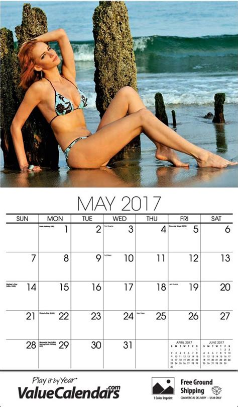 Affordable Personalized Calendars 2017 Swimsuit Models Calendar Affordable Staple Bound
