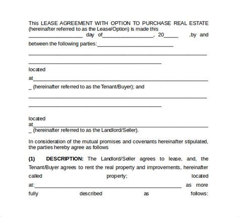 Sle Office Lease Agreement 8 Free Documents Word Pdf Office Lease Template Free