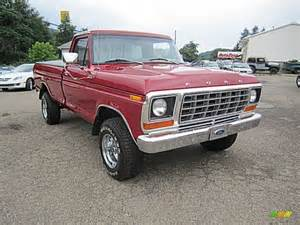 Ford f150 custom 4x4 red color gray cloth interior 1978 f150 colors