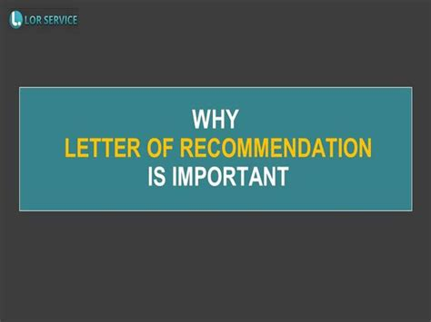Why Are Offer Letters Important why letter of recommendation is important authorstream