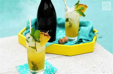 Links Pineapple Mojito by Sparkling Pineapple Mojito Fried Dandelions
