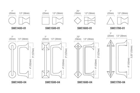 Drawer Pull Sizes by Sweep Cabinet Pulls Architectural Forms Surfaces