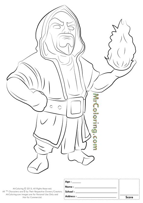 clash of clans dragon coloring page free printable clash of clans wizard coloring pages 1