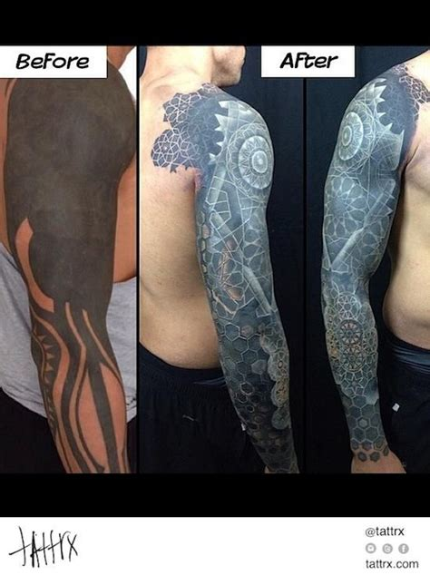 tattoo cover up red over black nathan mould white ink over blackwork coverup tattoo