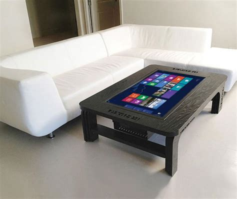 room gadgets touchscreen coffee table computer