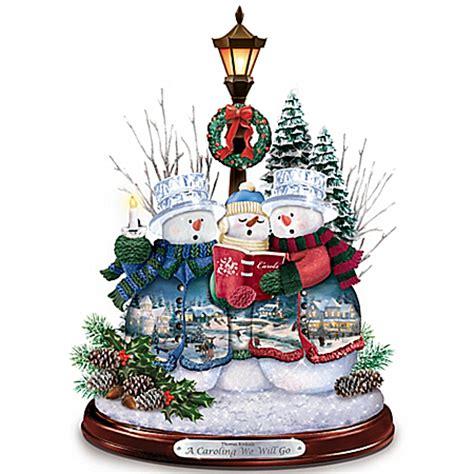 the bradford exchange home decor thomas kinkade christmas figurines and home decor