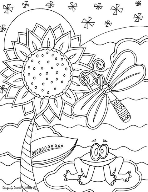 Happybirthday Doodle Art Alley Birthday Summer Artistic Coloring Pages