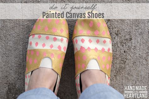 diy painted canvas shoes handmade in the heartland