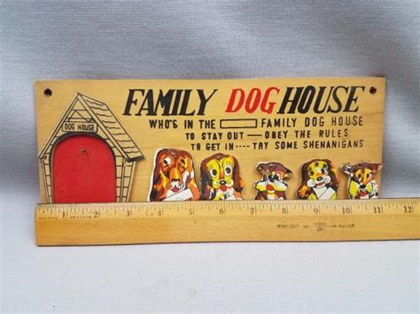 family dog house plaque vintage mid century in the dog house family wood wall plaque w 5 original dogs ebay