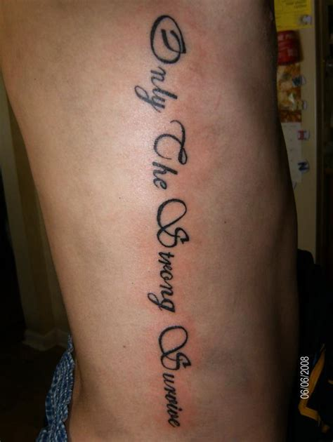only the strong survive tattoo only the strong survive que la historia me juzgue