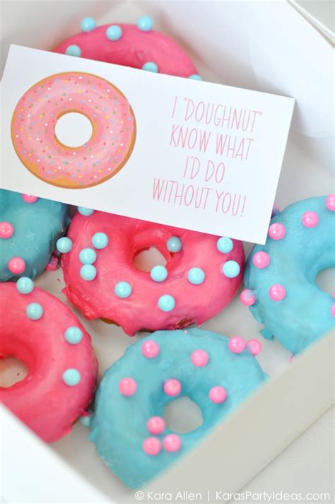 Or Ideas Kara S Ideas Quot I Doughnut What I D Do Without You Quot Donut Gift Idea Kara S Ideas