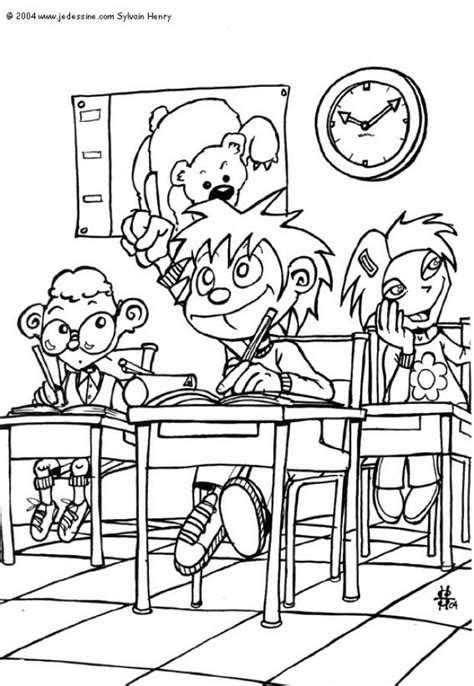 in the classroom coloring pages hellokids com