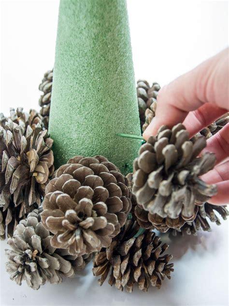 pine cone tree craft pine cone tree craft hgtv