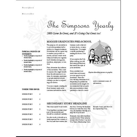 free newsletter templates for mac newsletter templates free mac