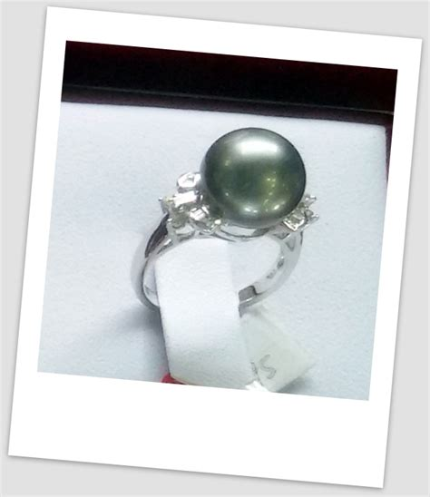 Cincin Handmade - handmade gold ring with south sea pearl ctr 113 info