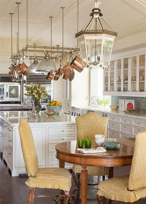 pot rack ideas to complete the kitchen amazing home decor copper pot racks and kitchen designs on pinterest