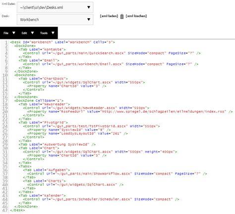 xml layout wiki der dashboard editor quisa 174 wiki
