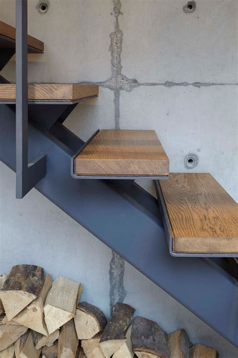 Industrial Stairs Design Stairs Design Idea Combine Wood And Metal For A Warm Industrial Look Contemporist