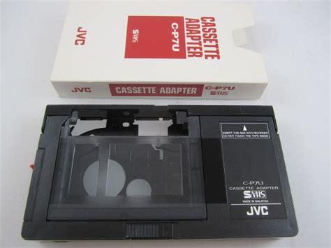 vhs cassette jvc vhs playpack vhs c cassette playback adapter