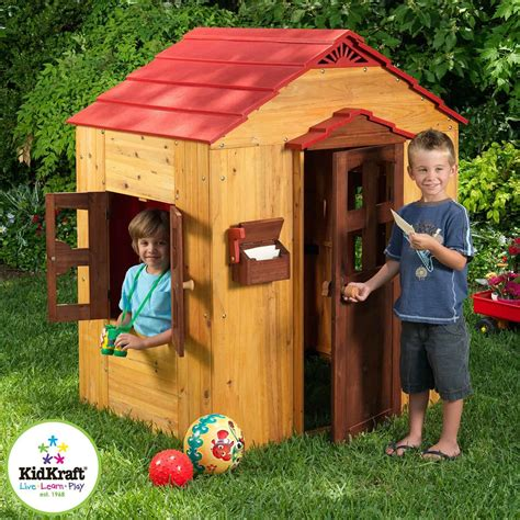 outdoor play house wooden or plastic playhouses outdoor toys for kids