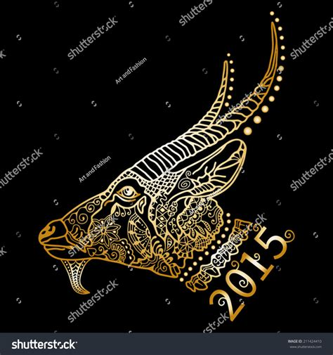 new year golden goat 2015 new year of the goat golden silhouette