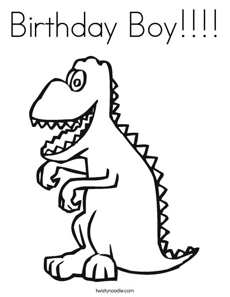 Birthday Boy Coloring Pages happy 3rd birthday coloring pages