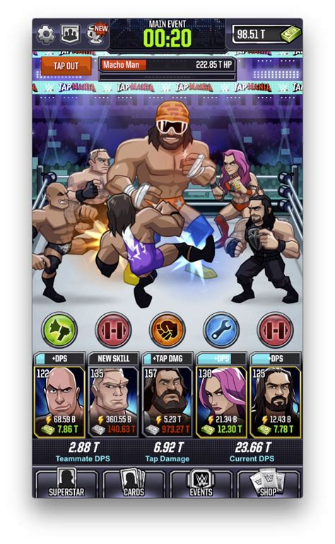 wwe  sega launch  mobile game tap mania cageside